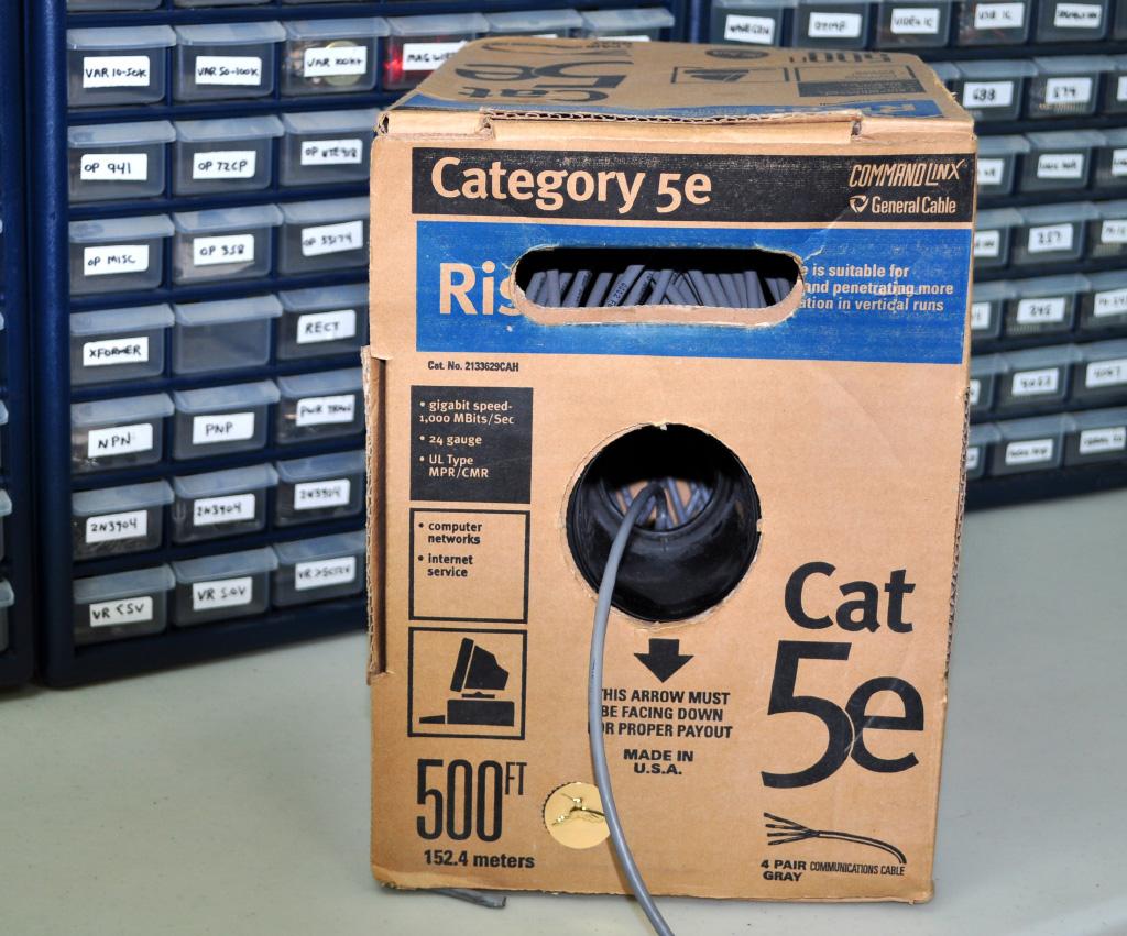 Cat-5 wire for breadboarding
