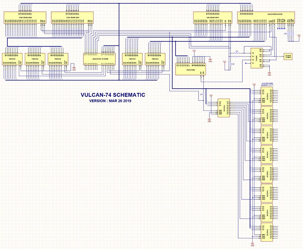 Vulcan-74 basic schematic