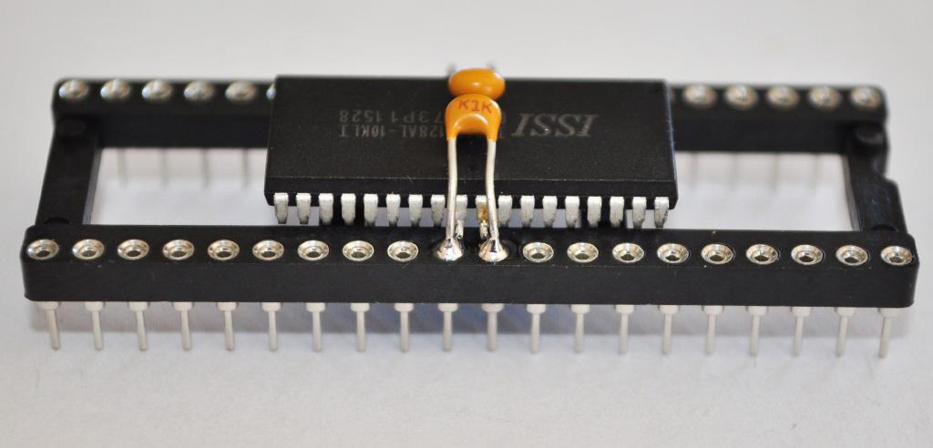 Capacitors soldered