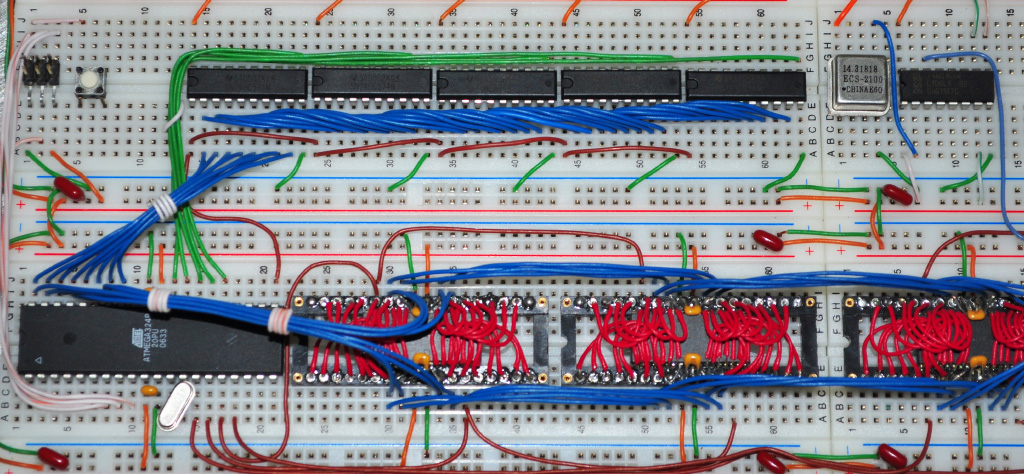 74HC574 latch controle line