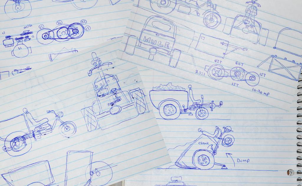 YardMule concept sketches