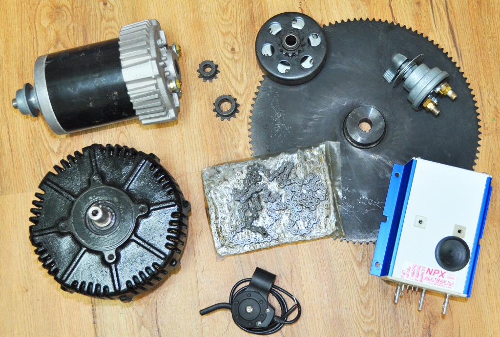 motors and sprockets