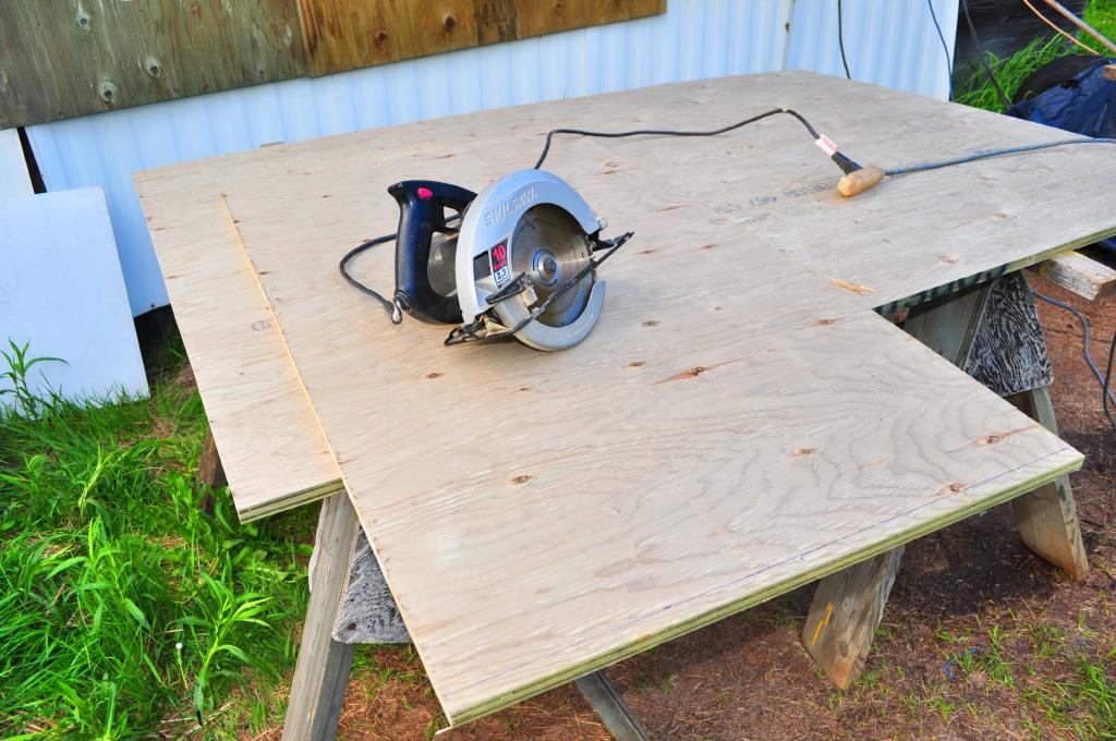 cutting dump box panels