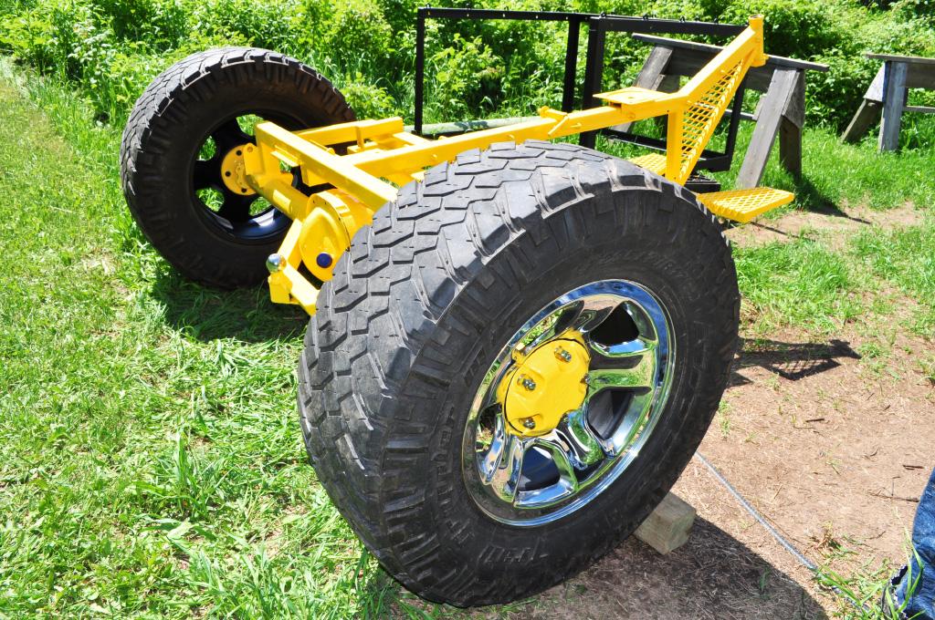 install the rear wheels