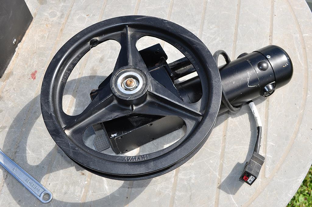 wheelchair motor and wheel