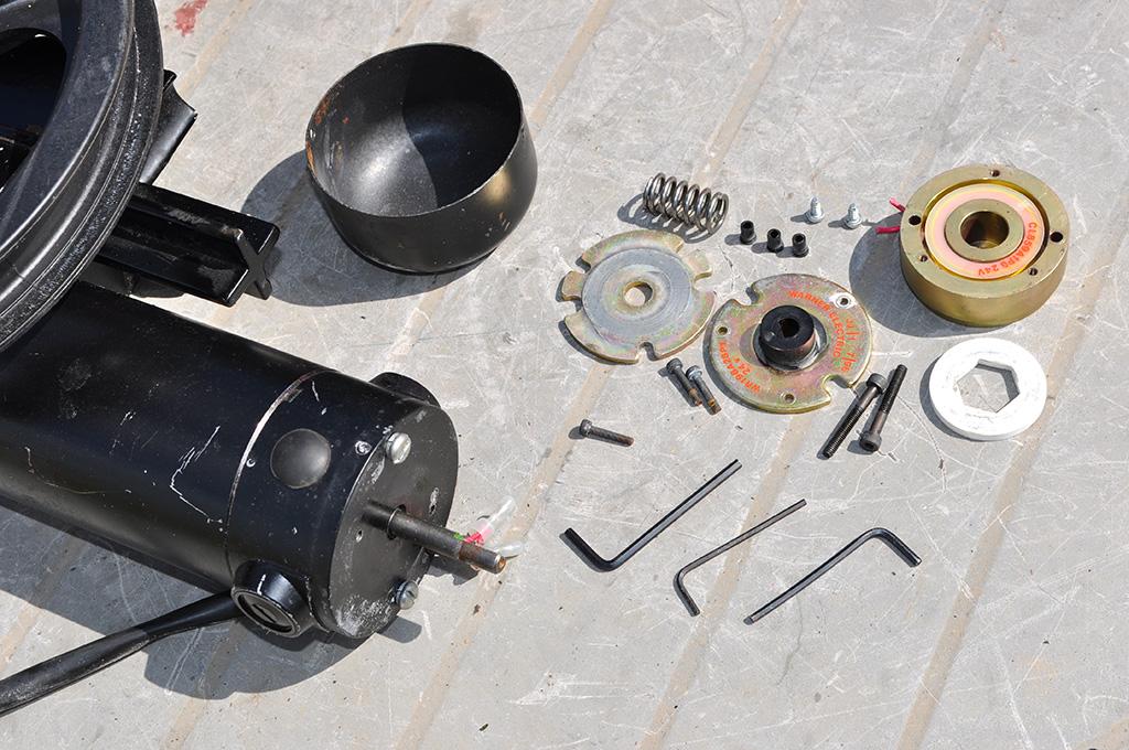 Wheelchair motor brake parts