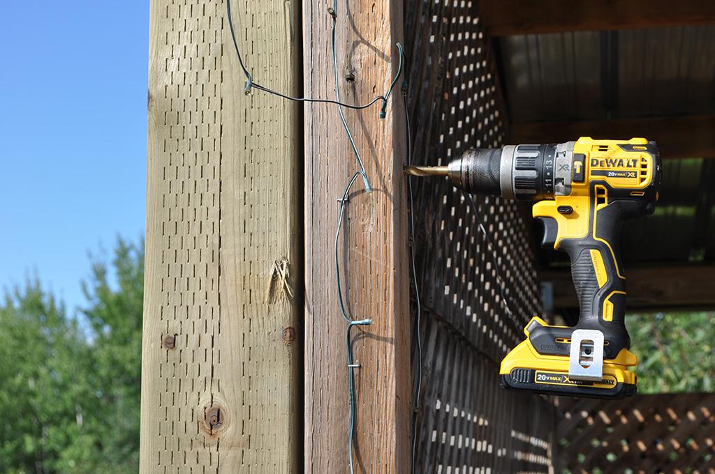 drilling for lag screws