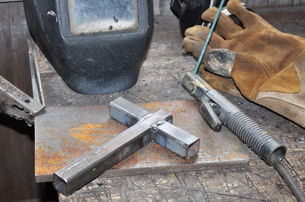 welding the bracket