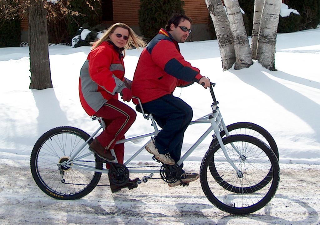 SnowBus Winter Tandem - test ride