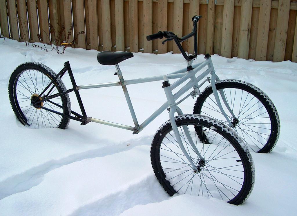 SnowBus Winter Tandem - welded frame